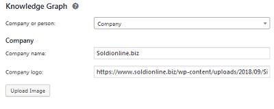 Se vuoi impostare il logo del tuo sito web puoi usare Yoast SEO