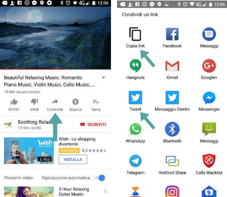 Ho voglia di insegnarti come condividere video da Youtube sul tuo profilo Twitter usando un dispositivo cellullare