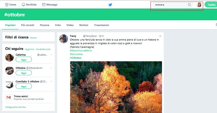 Il mese di Ottobre è arrivato anche su Twitter