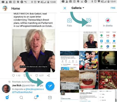 Se vuoi pubblicare un video su Twitter col tuo cellullare io posso aiutarti