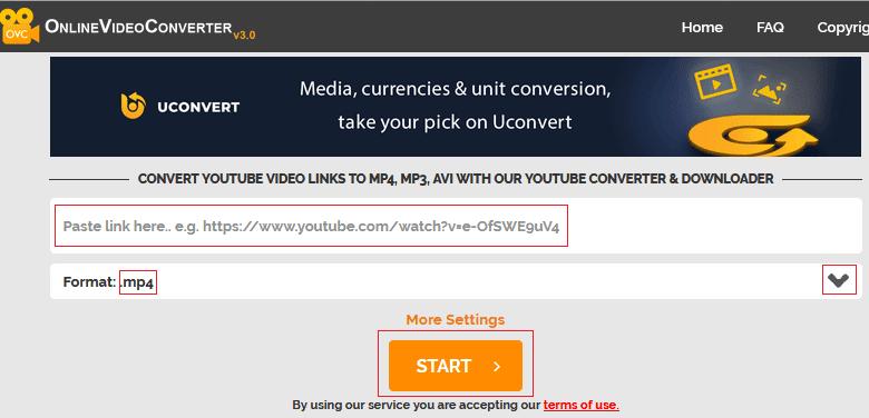 Se vuoi scaricare video da Youtube utilizza Online Video Converter