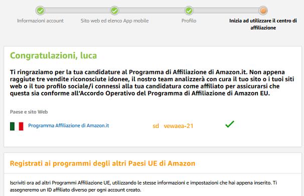 Adesso voglio spiegarti come utilizzare il centro di affiliazione Amazon