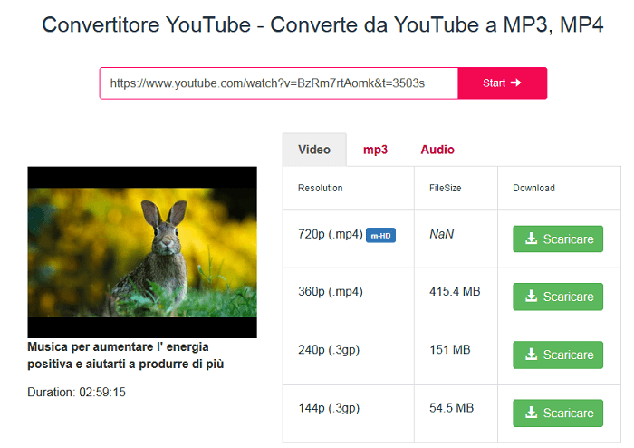 Y2mate è sicuramente una delle opzioni migliori per scaricare video da Youtube