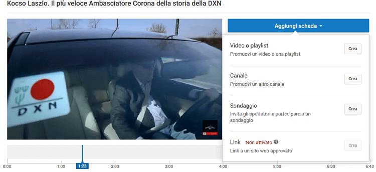 L' aggiunta delle schede video su Youtube è un operazione molto importante