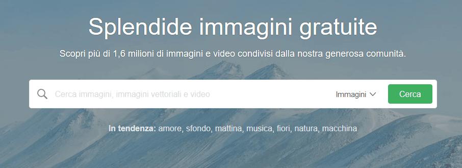 In questa guida voglio spiegarti anche come cercare su Pixabay