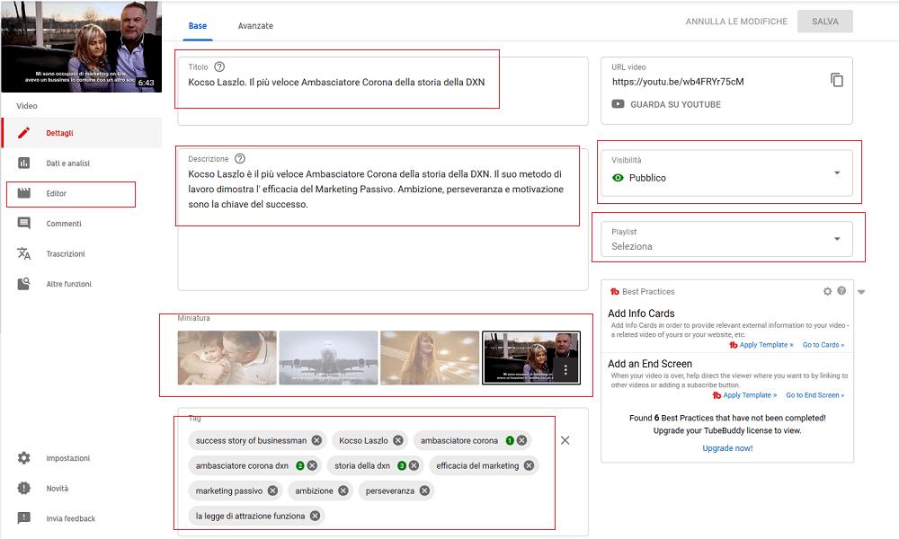 Se ancora non sai come editare un video Youtube leggi la mia guida
