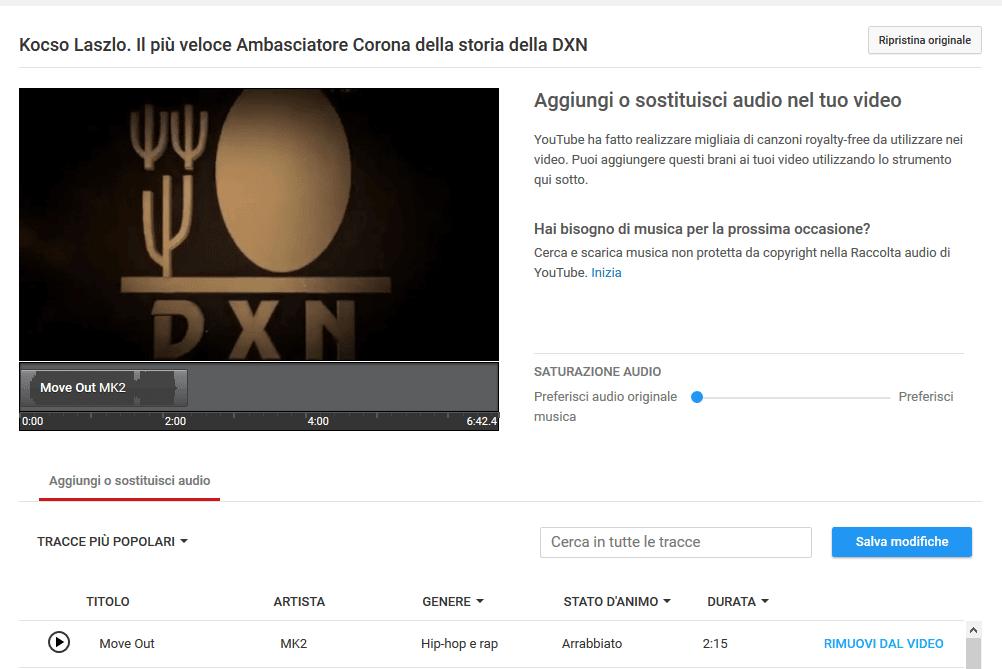 Grazie all' editor audio di Youtube puoi aggiungere musica ad un video già caricato