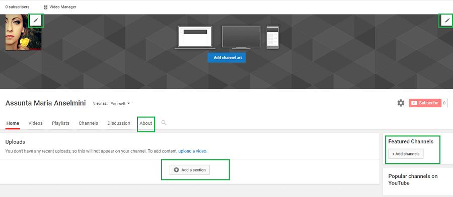 In questo tutorial voglio spiegarti come personalizzare l' immagine di copertina del tuo canale Youtube