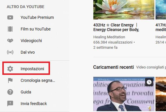 La sezione impostazioni di Youtube ti permette di gestire diversi aspetti molto importanti