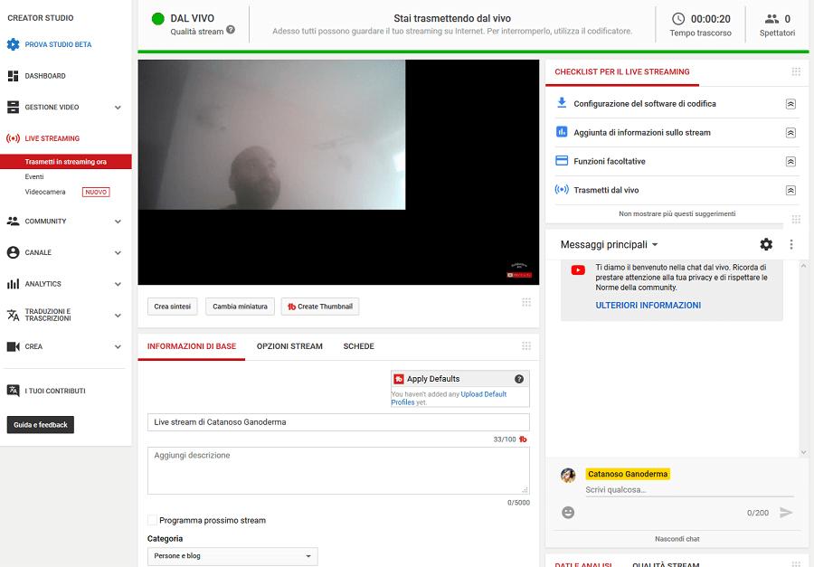 In questo tutorial voglio spiegarti come funziona la diretta streaming di Youtube