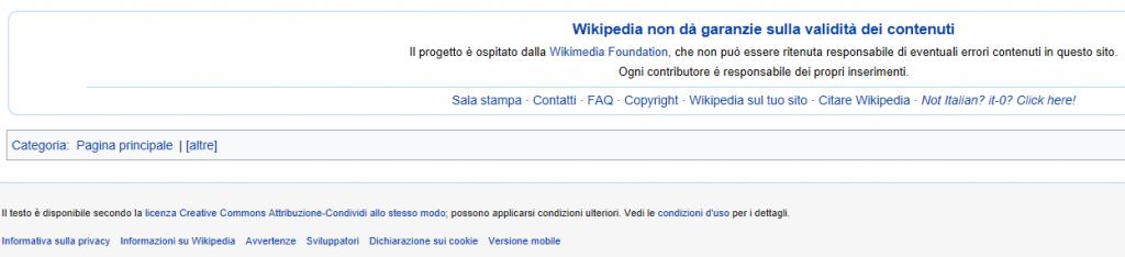 Il Footer di Wikipedia è progettato con grande maestria