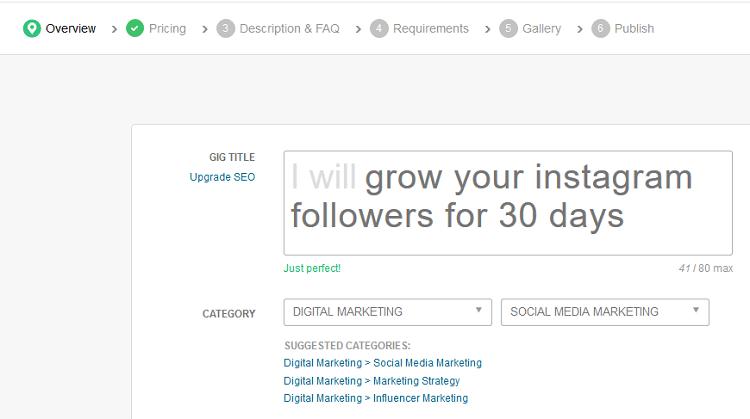 Se vuoi guadagnare followers su Instagram sappi che io sono presente su Fiverr