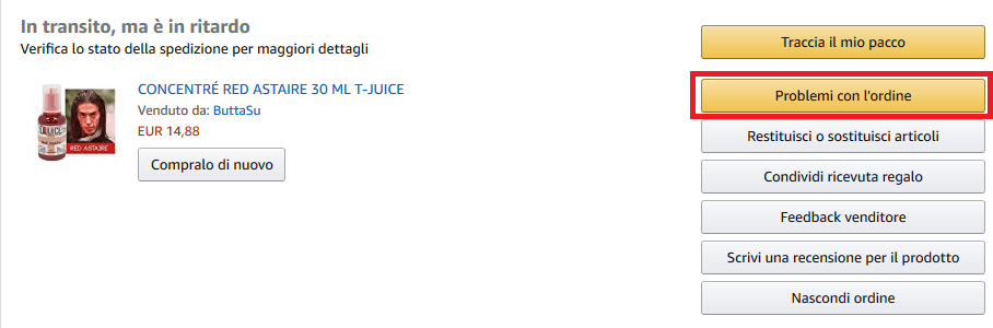 Se hai problemi col tuo ordine Amazon io posso aiutarti
