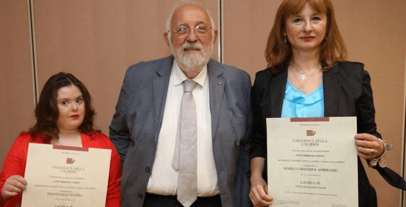 Ragazza down laureata con 110 lode a Cosenza