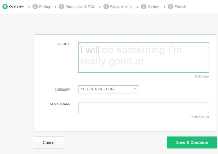 Adesso voglio spiegarti come compilare la sezione overview di Fiverr