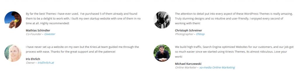 Se vuoi inserire le testimonianze all' interno del tuo footer WordPress questa mi sembra un ottima idea