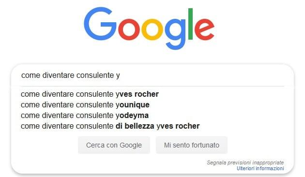 Sono convinto che la Google Search Autocomplete è uno strumento magnifico